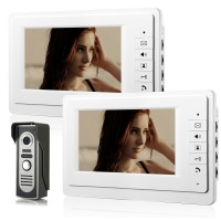 Video Intercom Monitor 7 TFT LCD Wired Video Door Phone System Visual Intercom Doorbell 2 Indoor