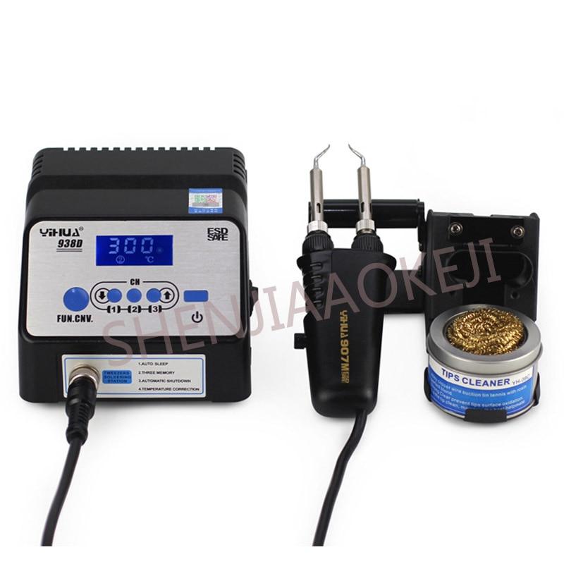 1PC Tweezers soldering station 938D Electric tweezers Anti-static intelligent lead-free soldering station Anti-static 220V/110V цена