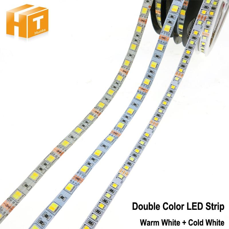 Double Color LED Strip 5025 / 2835 DC12V Flexible LED Light Warm White + Cold White Double Color 5050 LED Strip.Double Color LED Strip 5025 / 2835 DC12V Flexible LED Light Warm White + Cold White Double Color 5050 LED Strip.