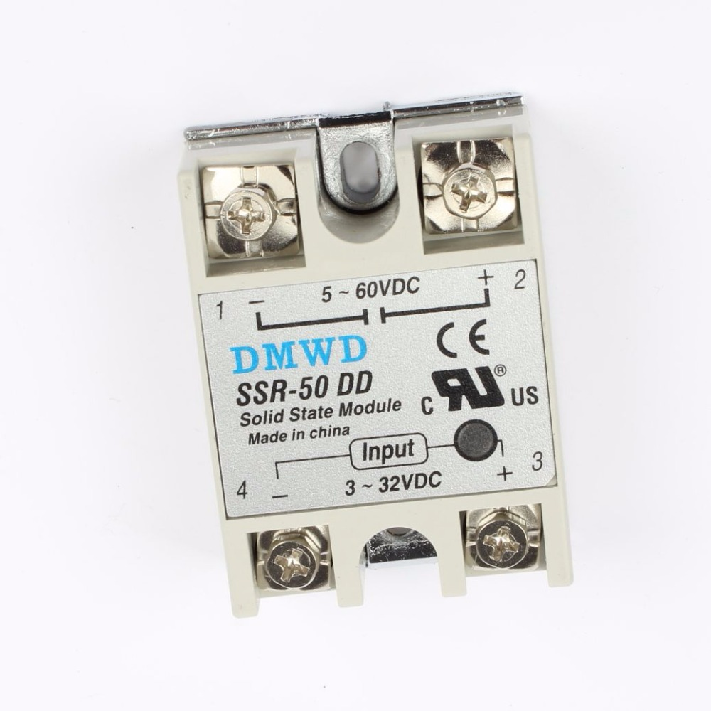 Подробнее о TOP BRAND DMWD solid state relay SSR-60DD SSR-50DD 3-32V DC TO 5-60 DC SSR 60DD relay solid state 50A 60A 5 60vdc to 3 32vdc 60a ssr 60dd solid state relay module with plastic cover
