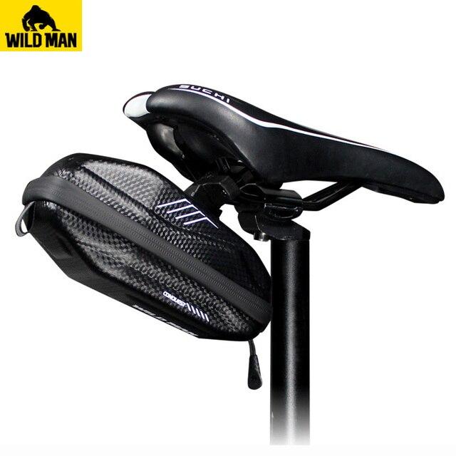 Bolsa de asiento de bicicleta WILDMAN, impermeable, antipresión, bolsa para sillín de ciclismo, herramientas de reparación, pinzas de almacenamiento, accesorios de bolsa de bicicleta