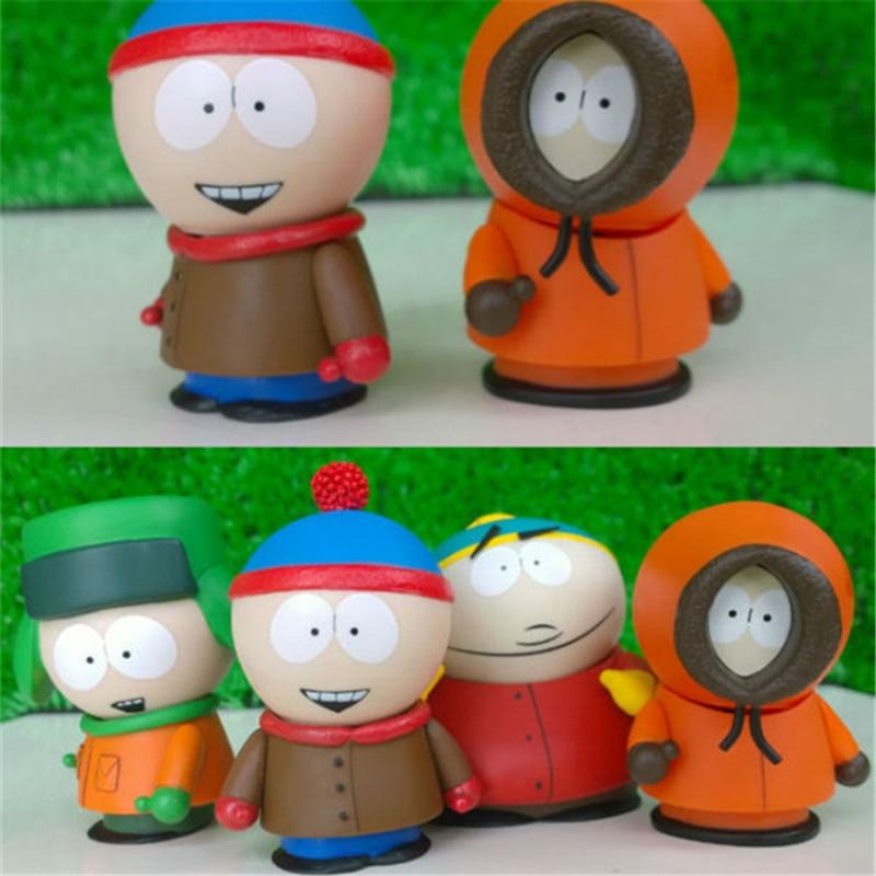 1pc/lot High Quality South Parker Action Figures Cute PVC South Park Toys Figure Mini Display Kids Toys Doll Retail Box