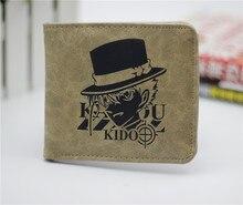 Anime Detective Conan cartera QQ estilo cosplay billetera hombres y mujeres estudiantes personalidad corta de dibujos animados monedero de moda