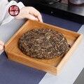 Квадратная бамбуковая чайная коробка  деревянный цветной чайный поднос  кунг-фу чайный набор  аксессуары  один слой А