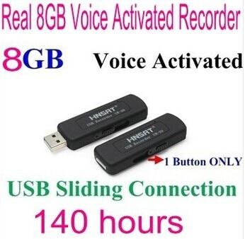 FreeShipping 09 8GB digital voice recorders Disk Digital Audio Voice Recorder One Button Voice Activated Sliding