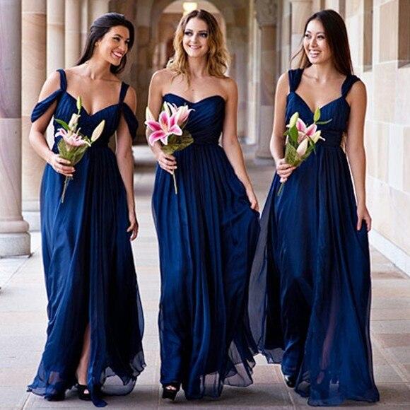 Vestidos de damas de honor color azul marino