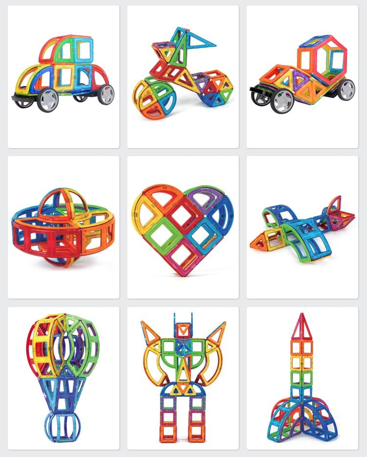 VINEDI Big Size Magnetic Blocks Magnetic Designer Constructor Set Model Building Educational Toys