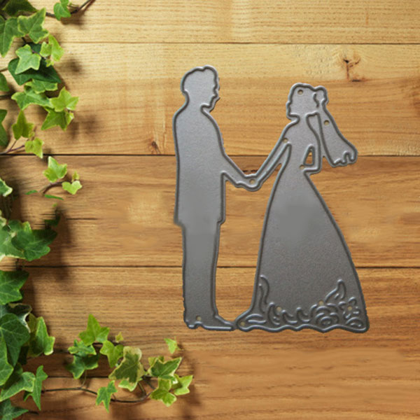 Wedding Lover Wedding Hold Hands Cutting Dies Stencil Mold For DIY Scrapbook Album Embossing Sale New