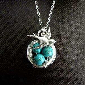 Creative Magpie And Nest Turqu
