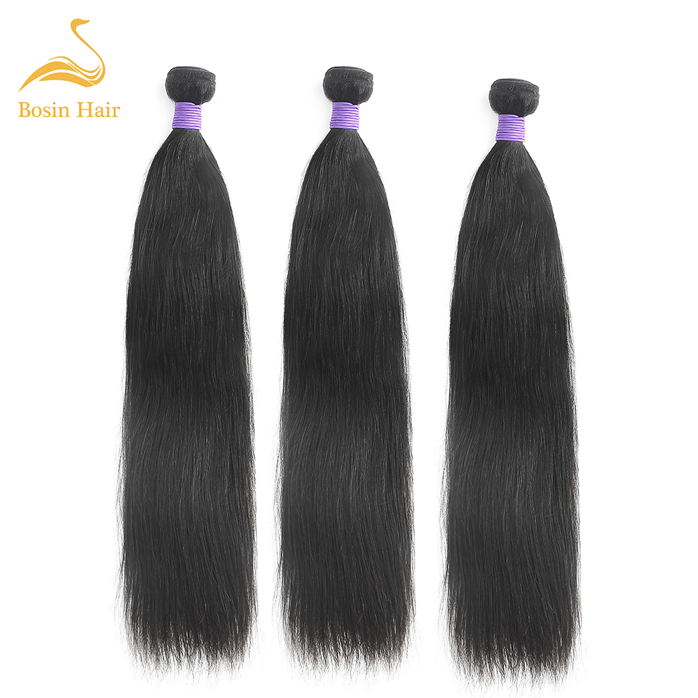 Bosin <font><b>Grade</b></font> <font><b>10A</b></font> straight Virgin <font><b>Hair</b></font> Human <font><b>Hair</b></font> Weave Bundles <font><b>Hair</b></font> Extension image