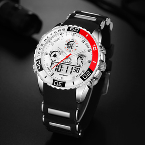 Image 4 - 2017 למעלה מותג Mens ספורט שעונים גברים קוורץ אנלוגי LED גבר שעון ספורט שעון עמיד למים צבאיים Relogio Masculino reloj hombre