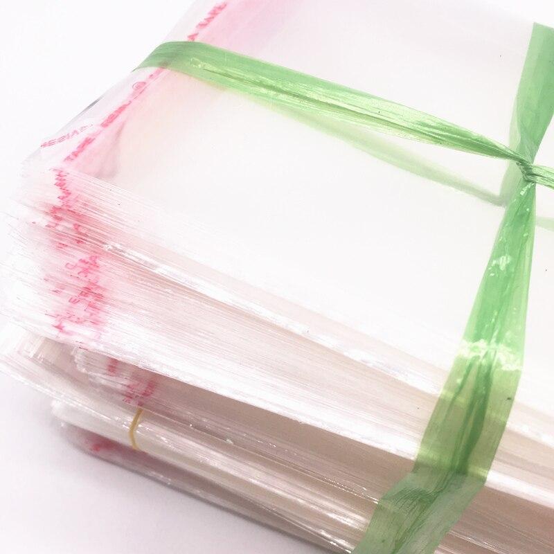 100pcs 7x11cm Resealable Poly Bag Transparent Opp Bag Plastic Bags Self Adhesive Seal Jewellery Making Bag