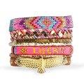 New Style Bohemia Summer HIPANEM Bracelet Handmade Beach Bracelet Magnetized Brazilian Glamour Jewelry Wholesale HIP225