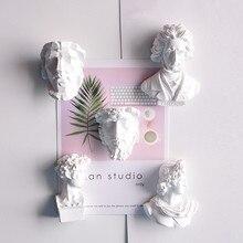 Декоративная статуя персонажа, креативный магнит на холодильник, винтажная скульптура Давида Аполлона, художественная Скандинавская простая Магнитная декоративная наклейка