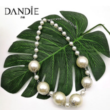 Dandie Trendy Statement Imitation Pearl Short Necklace, Simple Design Necklace