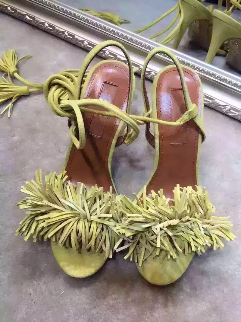 2016 Summer Sexy High Heels Women Sandals Leather Cross Strappy Rome Style Tassel Sandals Fringed Chunky Heel Sandal Shoes Mujer 2015 summer new rome sweety fish head mixed color women sandals high heels women sandal breathable comfort women sandals e1092