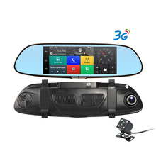 Dealcoo 3G Dash Cam 7′ Android 5.0 Dual Lens  Night Vision Rearview Mirror Cam Car Camera DVR Registrator GPS Parking Monitor