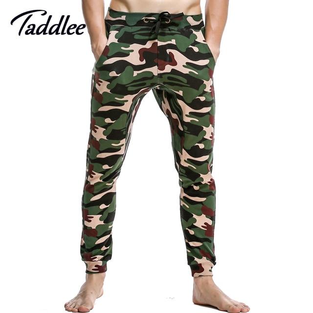 Taddlee marca hombres de la manera de largo pantalones de cintura baja sexy hombres baggy encuadre de cuerpo entero harem algodón nuevo pantalón legging militar