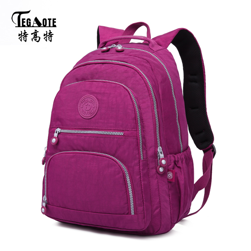TEGAOTE Classic Backpack for Women School Bag for Teenage Girls Nylon Backpacks Female Casual Travel Laptop Bag Mochila Feminina jmd backpacks for teenage girls women leather with headphone jack backpack school bag casual large capacity vintage laptop bag