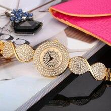 Новое поступление круглые часы missfox с полной алмазной отделкой