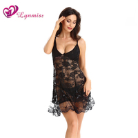 Lynmiss 2018 Women Plus Size Sexy Lingerie Hot Erotic Underwear Women Sexy Night Dress Lace Sleepwear Nightgown Sex Costume
