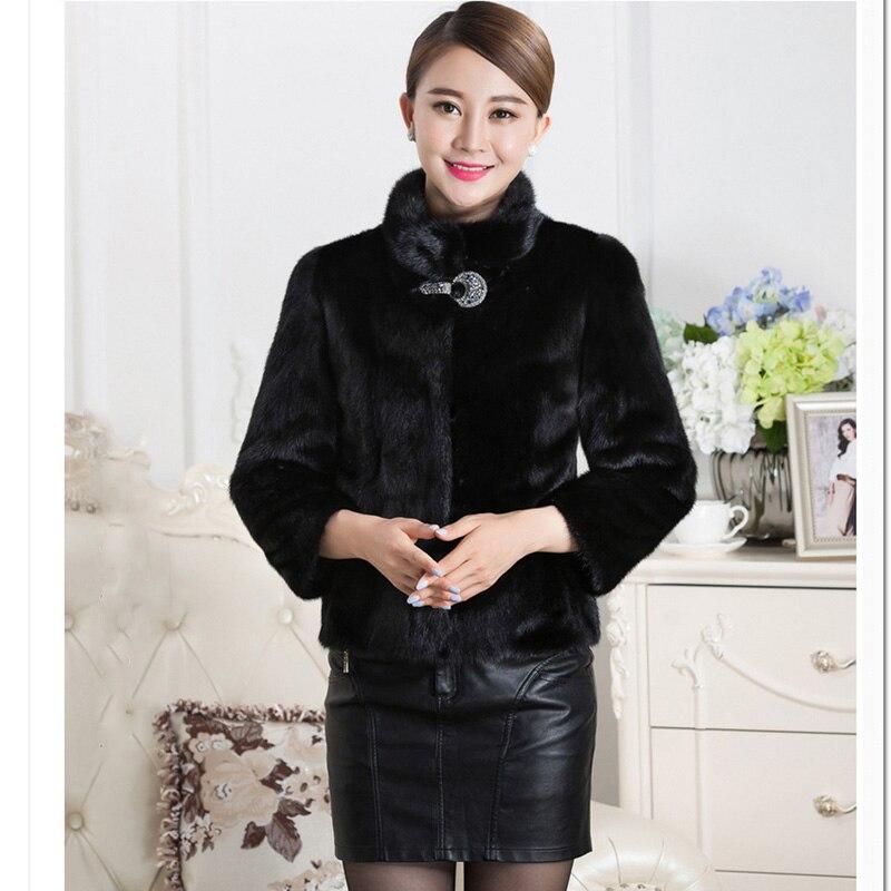 4305686ba02 Plus Size sexy women faux fur coat 2018 elegant women furry faux fur coat  long sleeve thick Black White Fur Slim Overcoat WR600