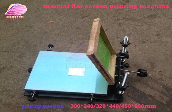 Unique couleur manuel écran plat machine d'impression (24 cm * 32 cm) plaque d'aluminium bonne qualité livraison gratuite avec la livraison rapide