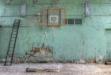 Laeacco Basquete Ficar Deserta Escada Na Parede Cena Backdrops Para Estúdio de Fotografia Fotografia Fundos Fotográficos Personalizados