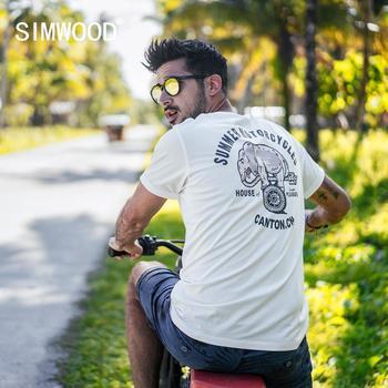 SIMWOOD 2020 novedad de verano, camiseta para hombre, Impresión de cartón, 100% de algodón, parte de arriba ropa informal, camiseta de alta calidad 190155