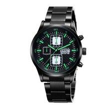 Relogio masculino hombres de lujo top skone reloj negocio de la moda con negro stainsteel band regalo a prueba de agua para hombre saat erkek
