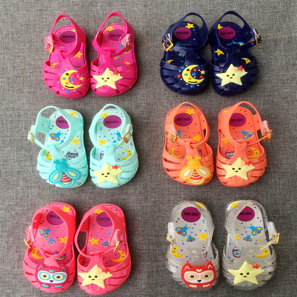 New Fashion Kids Girls Shoes Summer Moon With Stars Baby Jelly Shoes Cartoon Childrens Slippers Non-Slip Toddler Princess ...