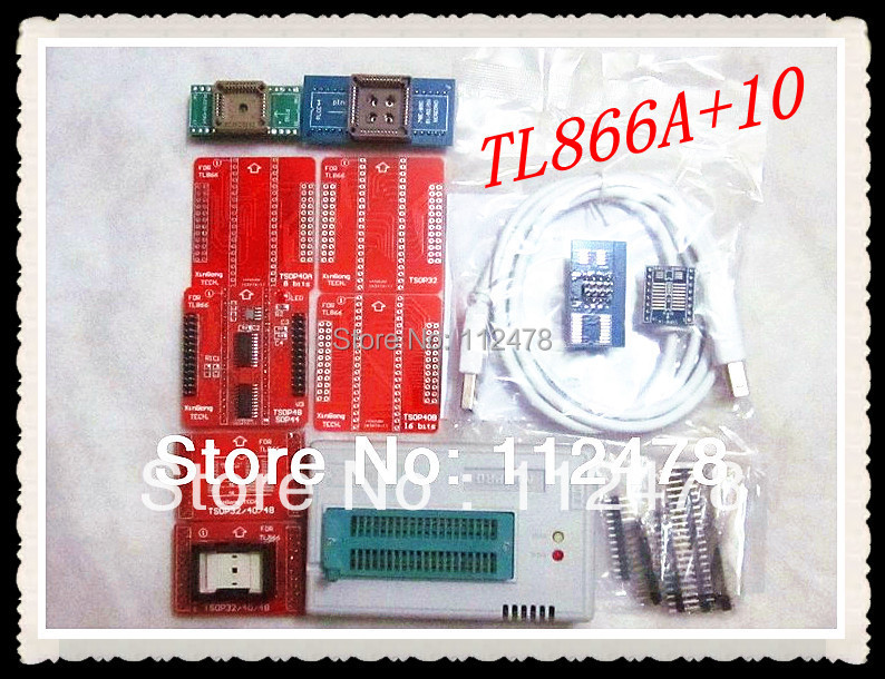 все цены на Free Shipping Russian&English Software V7.21 MiniPro TL866 BIOS USB Universal Programmer TL866A & TL66II plus +11 IC adapters онлайн
