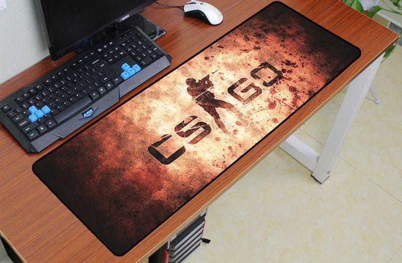 Cs go souris pad 900x300mm pad pour la souris notbook ordinateur verrouillé bord tapis de souris csgo gaming padmouse gamer à clavier souris tapis