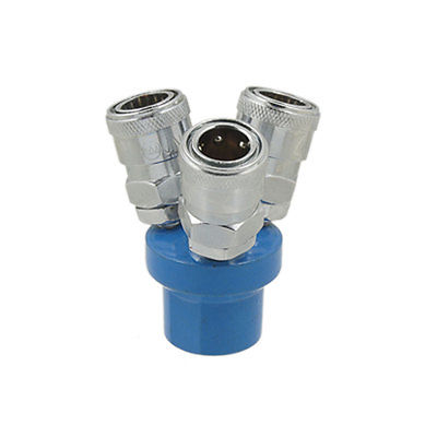 Multi 3 Way Air Pass Quick Coupling Adapter Connector three way air pass quick coupler connector navy blue