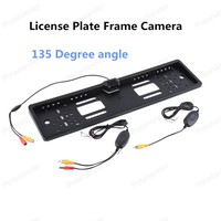 656*492 pixels Wireless Car Licence Plate Frame camera 135 Degree angle Backup rear view Camera