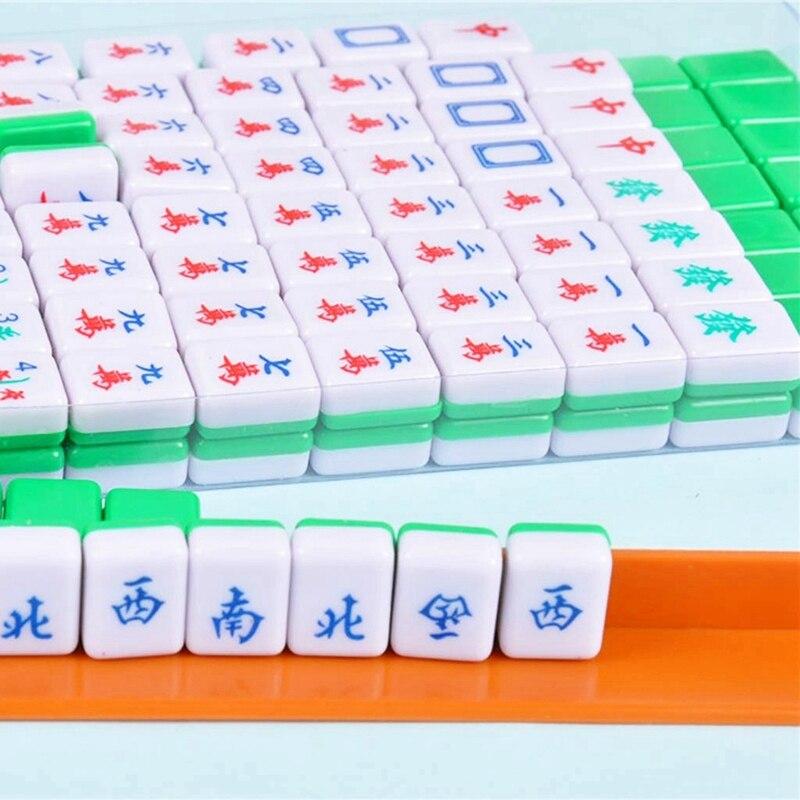 Новые Мини маджонг китайские Семейные Настольные Игры Портативный Набор для игры в маджонг китайские антикварные Мини маджонг игры Семейные игры