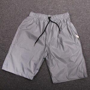 Image 5 - Erkekler rahat tam yansıtıcı hip hop şort gece kulübü dans kısa pantolon spor erkek moda parlak şort bermuda masculino 3XL