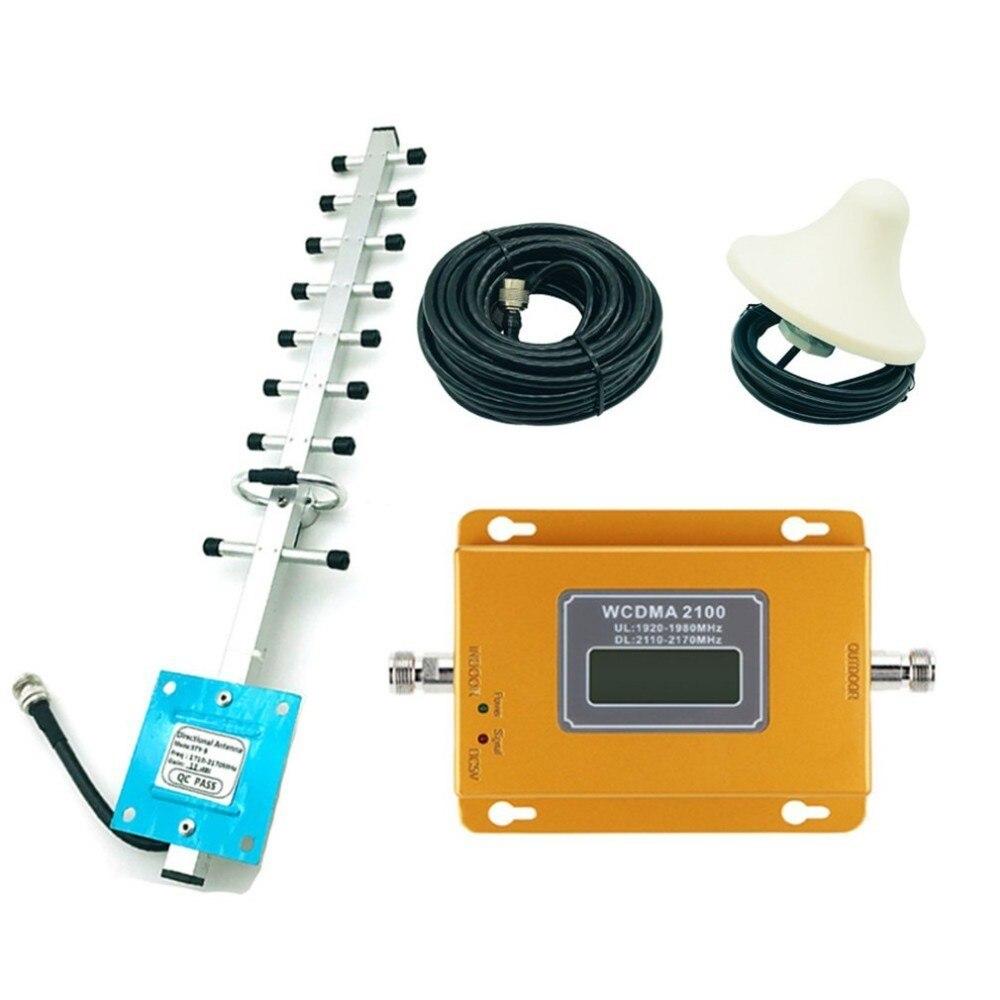 CDMA 3G 4G 2100 MHz LCD 3G del teléfono móvil de la señal de refuerzo repetidor amplificador de señal de teléfono móvil repetidor