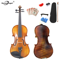 High Quality Italy Handmade Violin All Solid Wood Violino AAAAA Spruce Top Stripes Maple Send Pirastro Tonica Violin Strings