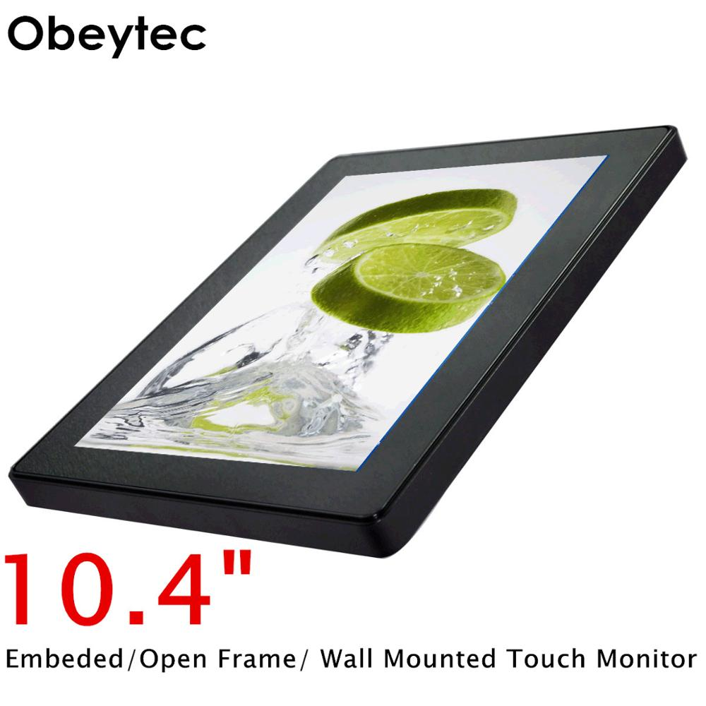 Obeytec 10.4 Touchscreen LCD monitor Open Frame, PCAP, 800*600, for Gaming, Self-Service, Healthcare, Industrial Automation image