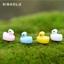 10pcs Colorful Yellow Ducks Miniature Figurine Chicken Cartoon Animal Home Decor Decoration Cake mini fairy garden ornament toy(China)
