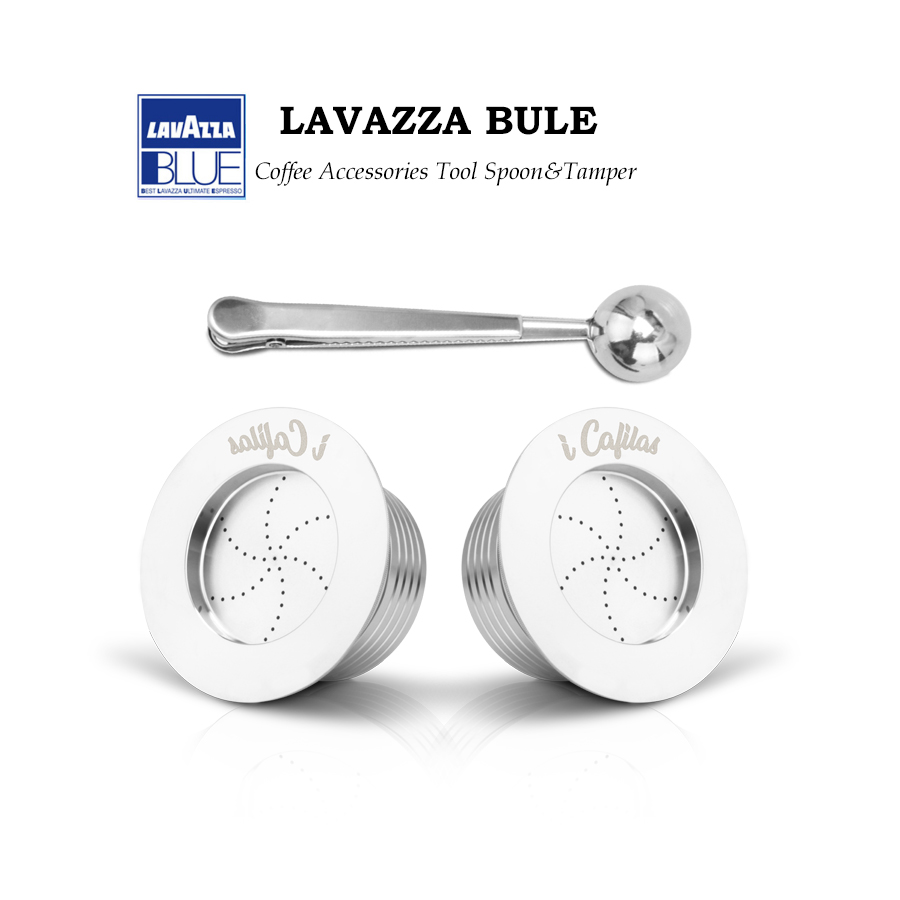 Reusable For Lavazza Blue Coffee Filters For Lavazza LB951 & CB-100 Machine Stainless Steel Refillable Capsule Pod & Tamper