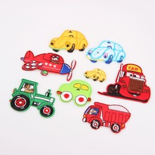 New Arrival 1PCS MIX Style Car Big DIY Embroidered Patches Iron On Cartoon Brooch Applique Embroidery Accessory