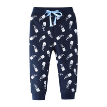Jumping Meters Sweatpants baby Boys girls trousers full pants autumn spring children clothing printed fashion kids trousers boy