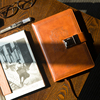 1Pcs Vintage Leather Diary Note Book With Password Code Lock Office School Stationery Supplies Gifts