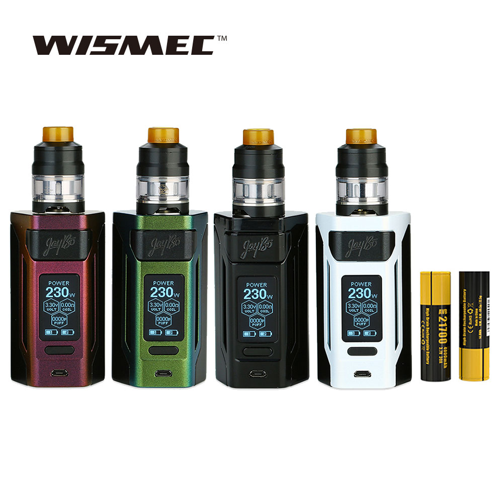 Original 230 Watt WISMEC Reuleaux RX2 21700 TC Kit w/2 ml/4 ml Gnome Tank & 1,3-zoll Großes Display & 4000 mAh 21700 Batterie E cig kit