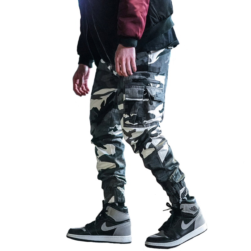 Camouflage Military Army Jeans Men Loose Fit Multi Pockets Cargo Pants Homme Streetwear Japanese Style Hip Hop Joggers Pants Men