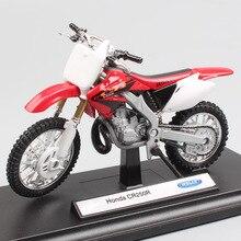 1/18 schaal Welly Honda CR250R 250 Motocross fietsen Enduro dirt motorcycle Diecast model miniaturen auto Speelgoed cadeau voor kids