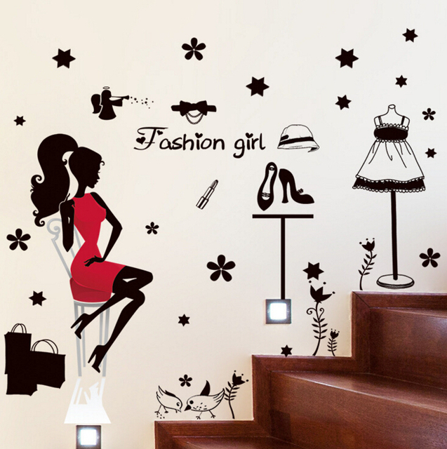 Fashion Ping Wall Stickers Decals Home Decor Living Room Wallpaper Removable Sticker