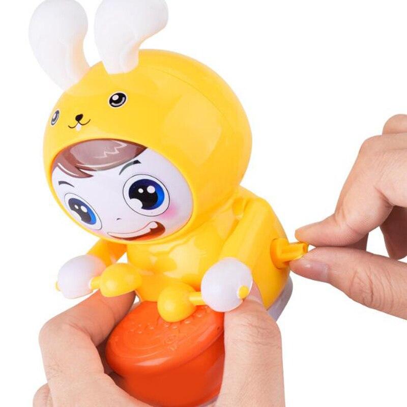 1 Pc Cartoon Elektrische Trommeln Kaninchen Licht-up Weiche Ohren Ketten Clockwork Wind Up Pädagogisches Musikalisches Spielzeug Für Kinder Neue